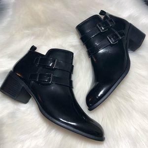 Franco Sarto Raina Black Patent Leather Boots